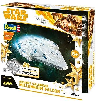 Revell Weihnachtskalender.Revell Build Play 01017 Adventskalender Millennium Falcon Star Wars Disney Solo 24 Tage Cooler Bastelspaß Der Bausatz Mit Dem Stecksystem Für