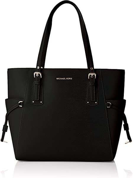 ff595237ba33 Women's Voyager Crossgrain Leather Tote Tote. Michael Kors Womens Voyager  Tote Black (Black)