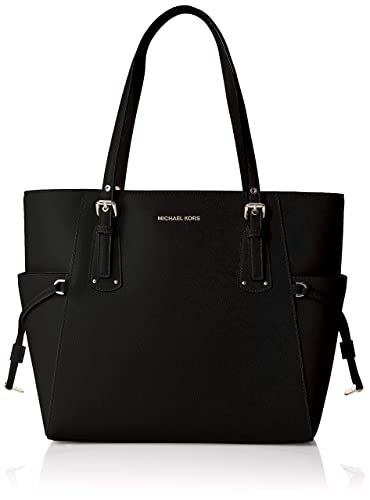 d98302c3d962 Amazon.com: MICHAEL MICHAEL KORS Voyager Crossgrain Leather Tote: Shoes