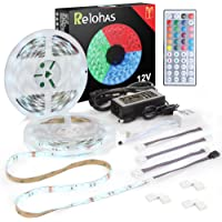 Colohas Led Strip Lights, 2018 New Upgraded 32.8ft(10M) Waterproof Flexible RGB Led Strip Light Kit,5050 SMD 300led with 44 IR controller,Extra Adhesive 3M Tape Strip for Home and TV Decoration