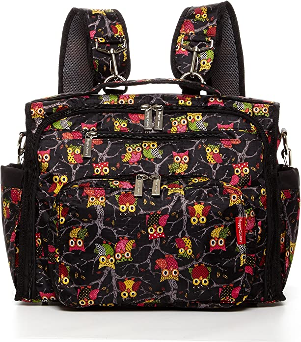 Diaper Bag Backpack Convertible Shoulder Bag and Crossbody Bag