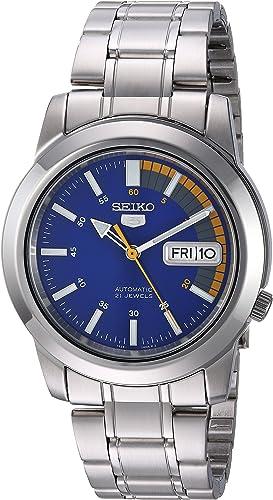 Amazon Com Seiko Men S Snkk27 Seiko 5 Stainless Steel Automatic Watch Seiko Watches