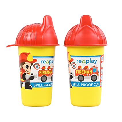 Black 1 Piece Silicone Easy Clean Valve Grey Eco Friendly Heavyweight Recycled Milk Jugs are Virtually Indestructible Re-Play Made in USA 2pk Toddler Feeding No Spill Sippy Cups