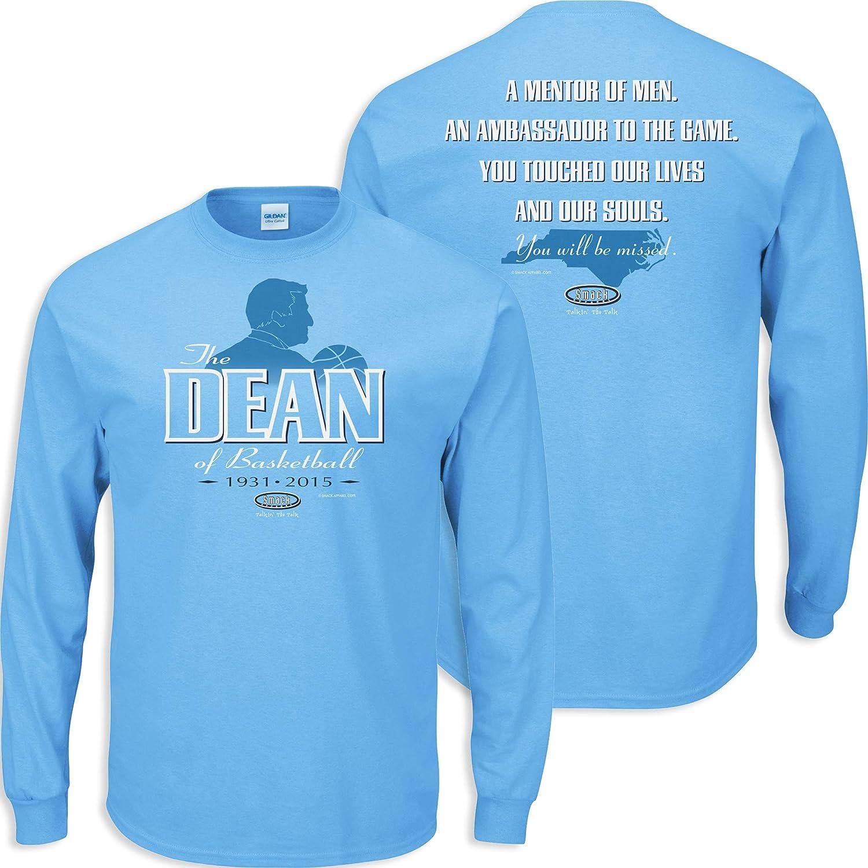 Dean Smith Tribute Blue T-Shirt Sm-5X The Dean of Basketball Smack Apparel North Carolina Basketball Fans