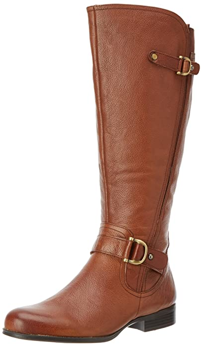 Amazon.com | Naturalizer Women's Jersey Wide Shaft Knee-High Boot ...
