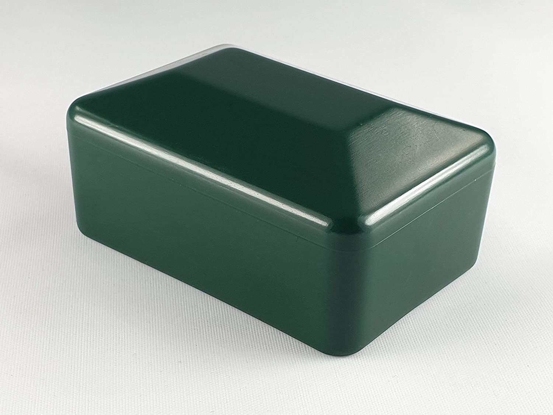 Schwarz 1 1//4 Zoll OuM 10 St/ück Pfostenkappe Zaunpfahlkappe rund 42,4mm