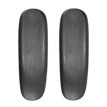 Lifestan - Almohadillas de Repuesto para reposabrazos de Silla de Oficina, 1 par de Almohadillas universales de Piel sintética Suave para sillas de Oficina: ...