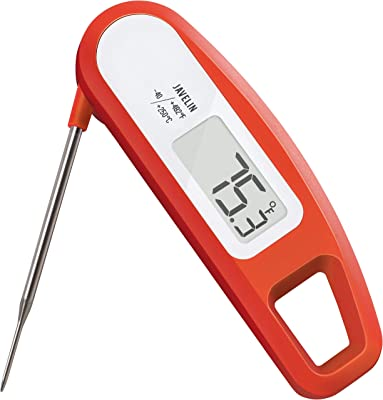 Lavatools PT12 Javelin Digital Ultra Fast Instant Read Meat Thermometer for Kitchen, Outdoor Grilling, BBQ, Brewing, and Frying (Chipotle)