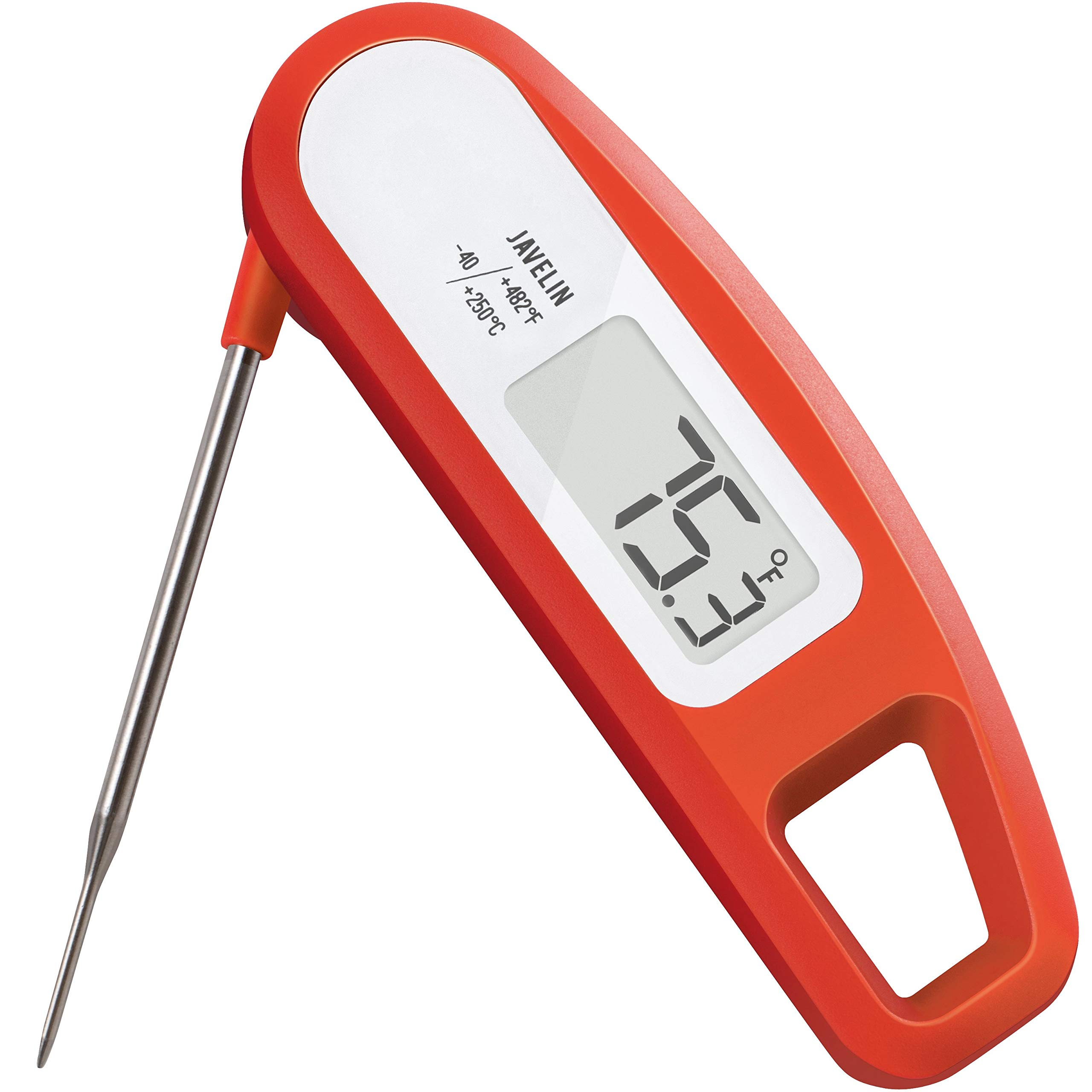 Lavatools PT12 Javelin Digital Ultra Fast Instant Read Meat Thermometer for Kitchen, Outdoor Grilling, BBQ, Brewing, and Frying (Chipotle) by Lavatools