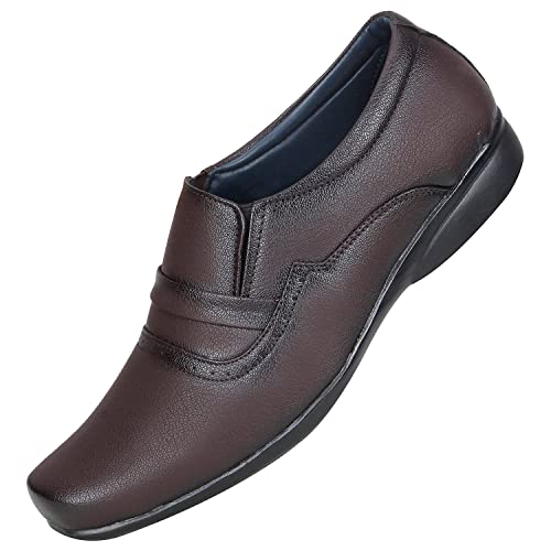 a897fcbb6324 Emosis Men s Stylish 0301 Tan Brown Black Colour Office Party Wear Formal  Moccasin Slip-On Shoe  Buy Online at Low Prices in India - Amazon.in