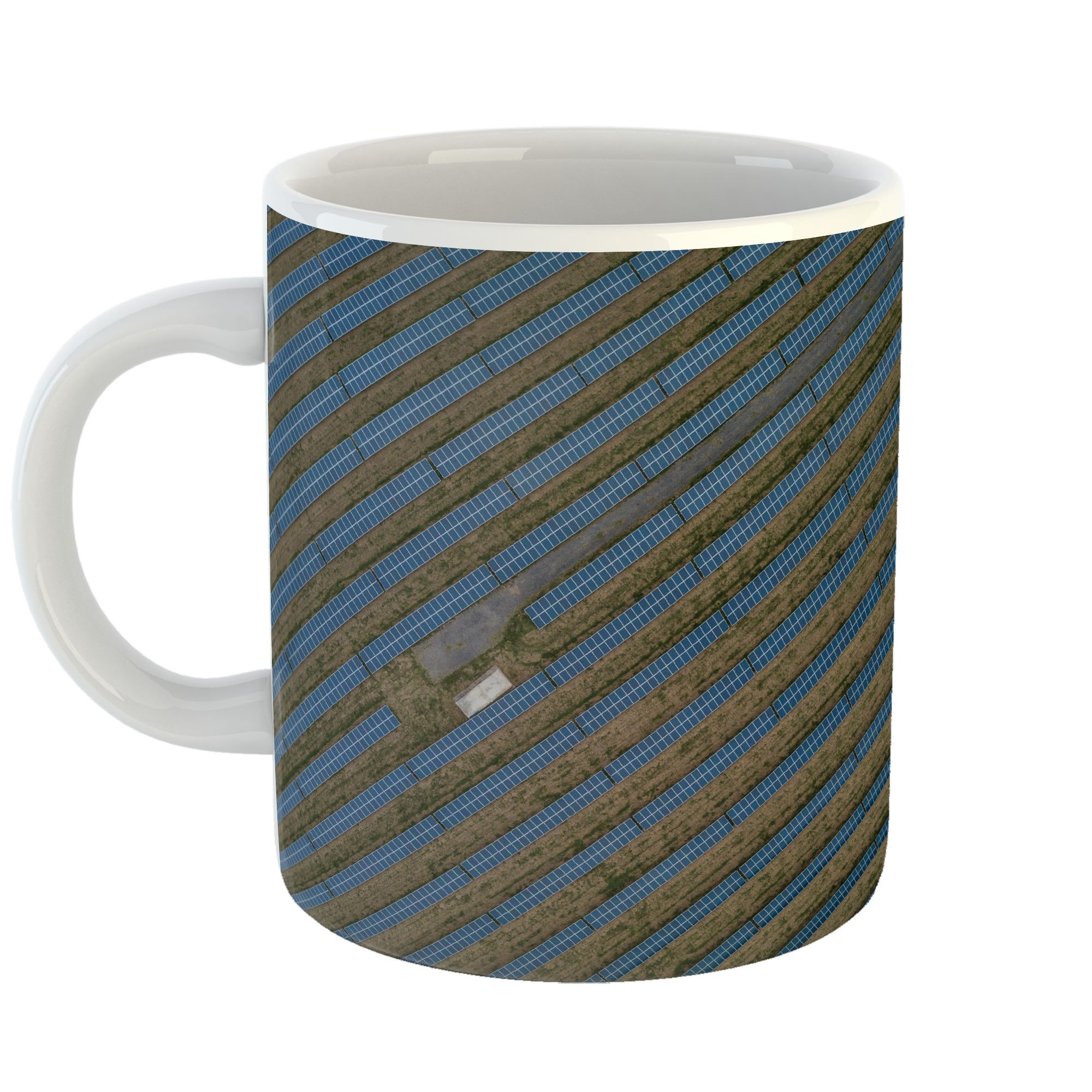 Westlake Art - Blue Solar - 11oz Coffee Cup Mug - Modern Picture Photography Artwork Home Office Birthday Gift - 11 Ounce (5100-E4072)