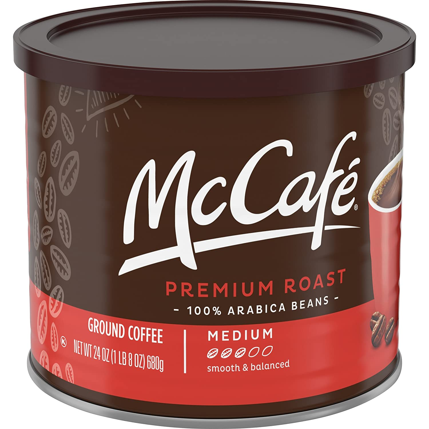 McCafe Premium Medium Roast Ground Coffee (24 oz Tin)