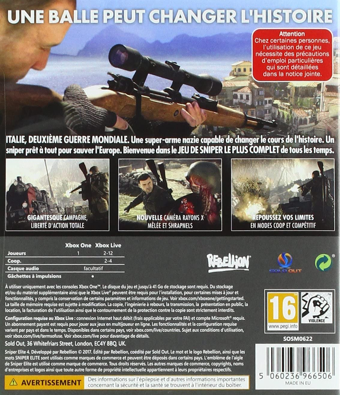 Sniper Elite 4 [Importación francesa]: Amazon.es: Videojuegos
