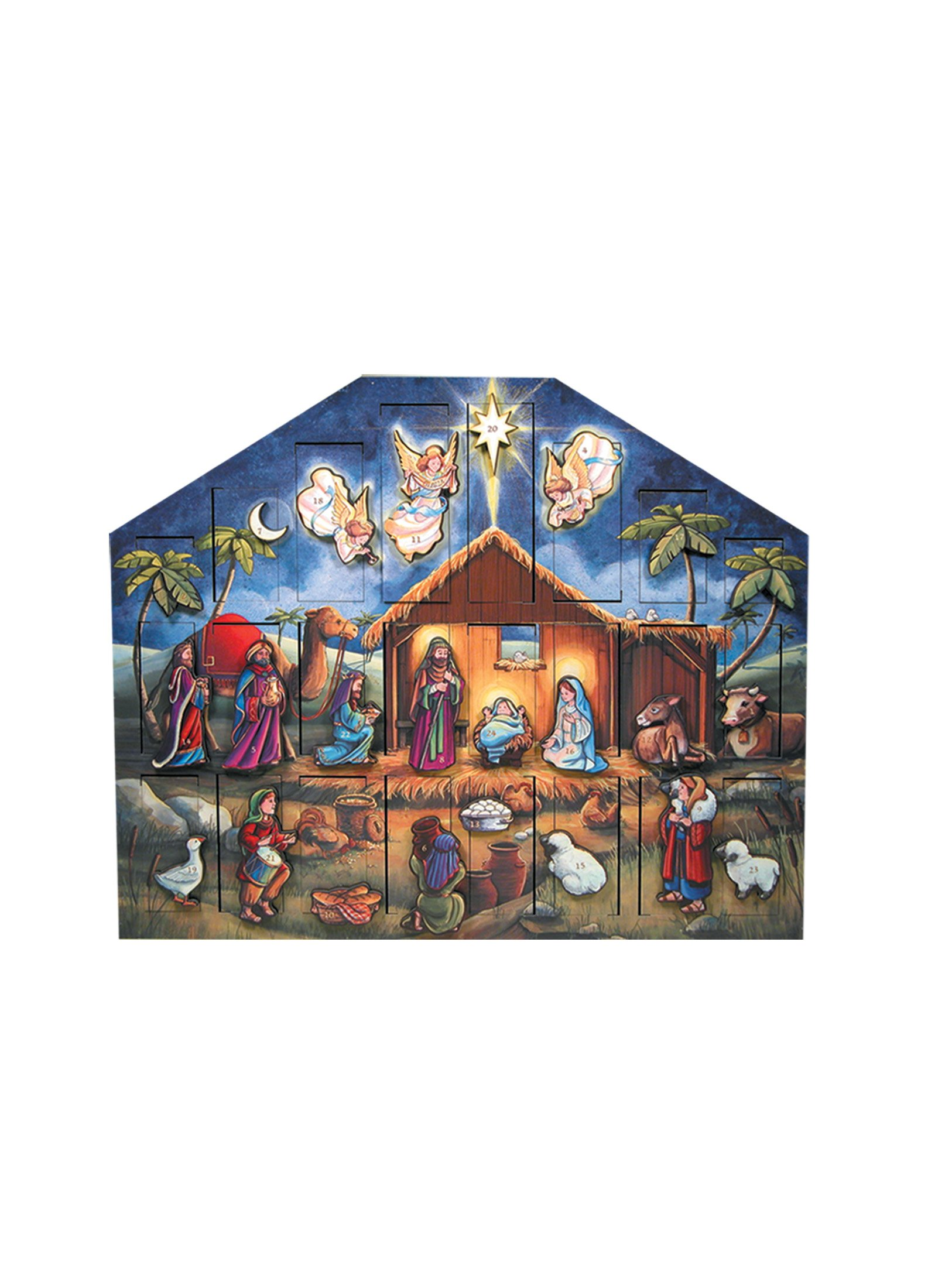The Carolers Byers' Choice Nativity Advent Calendar #AC05