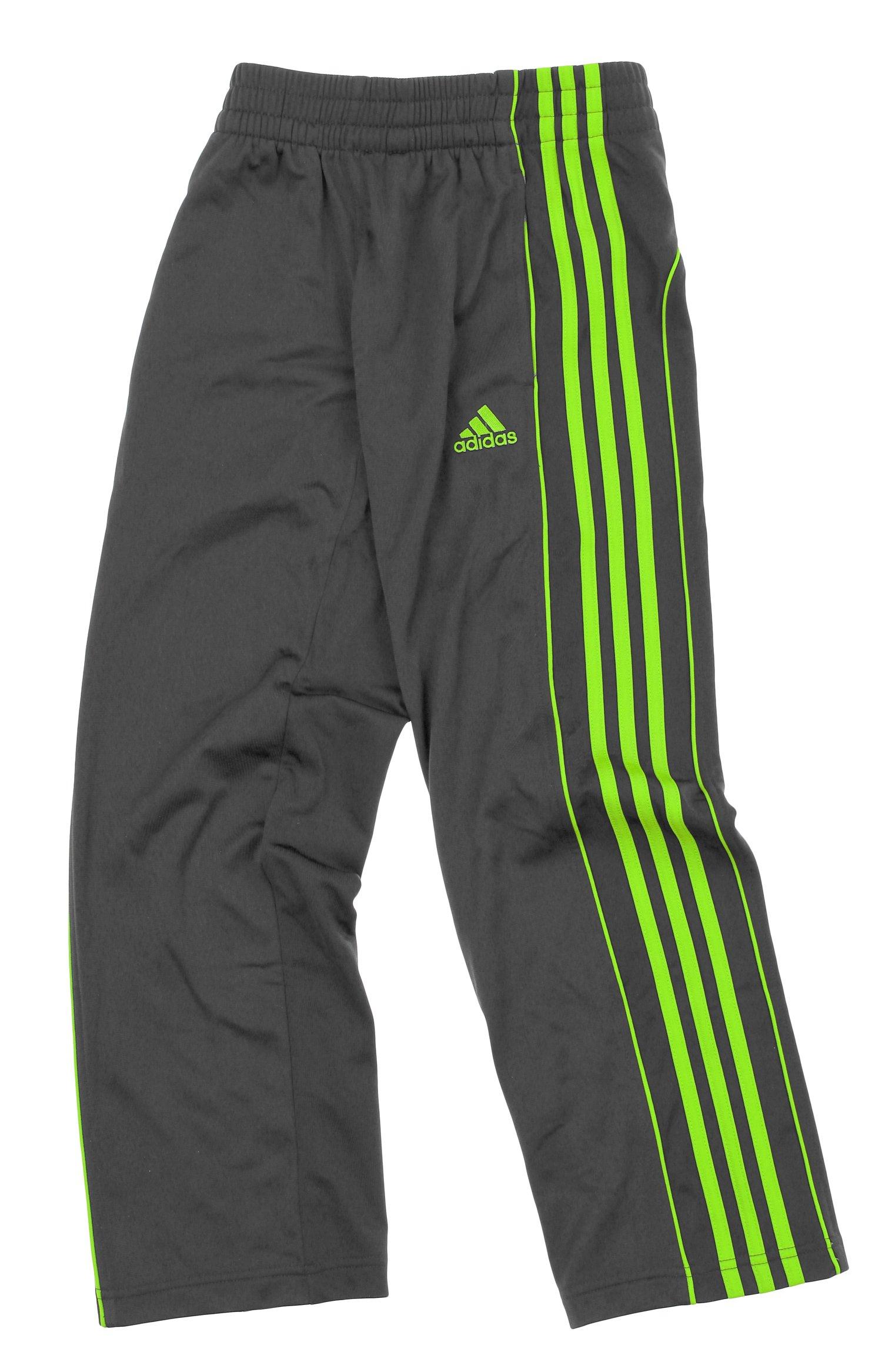 adidas Youth Boys Layup 3-Stripe Track Pant (X-Large (18), Grey/Green) by adidas