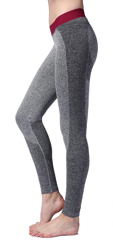 SEKERMAET Workout Leggings Yoga Pants, Gym Athletic Tights for Women Mid Waist Seamless Running Sports Flex Black Grey Teal