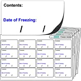 """256x Freezer Labels, FREEZER GRADE Self Adhesive Stickers. """"Contents: Date of freezing:"""" For Use With Any Standard Pen or Biro."""