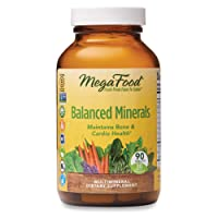 MegaFood, Balanced Minerals, Helps Maintain Bone and Cardiovascular Health, Multivitamin Supplement Vegetarian, 90 Tablets (30 Servings) (FFP)
