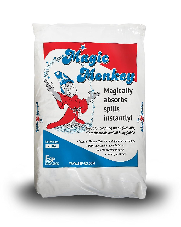 ESP MM225 Magic Monkey Alumina Silicate Universal Granular Absorbent 6.25 Gallon Water//11.6 Gallon Oil Absorbency Off White 25 lbs Poly Bag