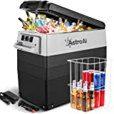 AstroAI 12 Volt Refrigerator 58 Quart Portable Freezer Car Refrigerator 55L(-4℉~68℉) with 12/24V DC and 110V AC, Compressor R