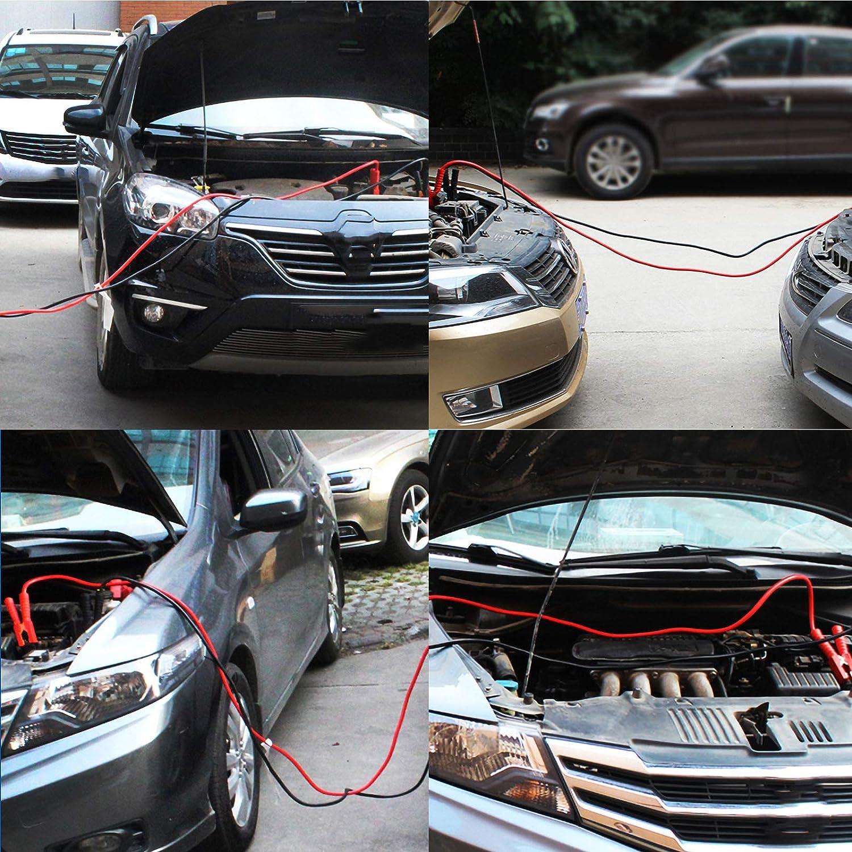 MorNon Starterkabel Starterkabel 2000Amp LKW Auto 3m /Überbr/ückungskabel 25mm/² Kabel f/ür Auto LKW Batterie /Überbr/ückungskabel