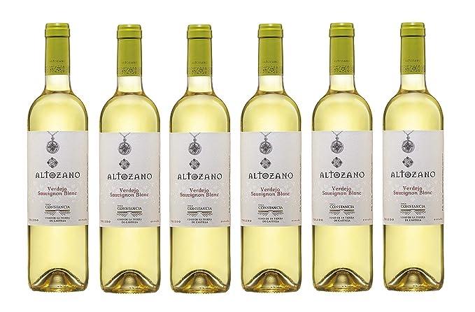 Altozano Verdejo Sauvignon Blanc Vino Blanco - 6 Paquetes de 750 ml - Total: 4500