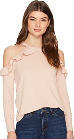 fd80f49e3211bc 1.State Womens Cold Shoulder Ruffle Edge Top at Amazon Women s Clothing  store