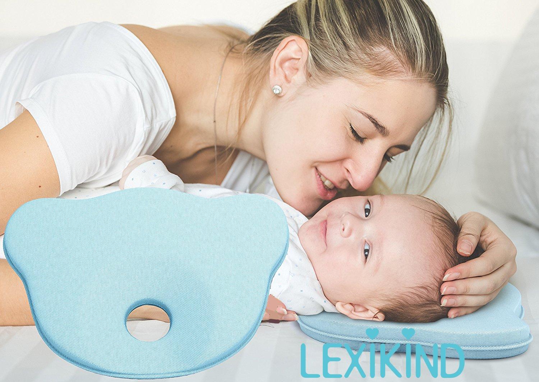 Almohada Bebé Para Evitar Plagiocefalia (Deformación de la Cabeza) - Cojín Para Bebés de Espuma Viscoelástica de Alta Calidad - Evita la Cabeza Plana ...