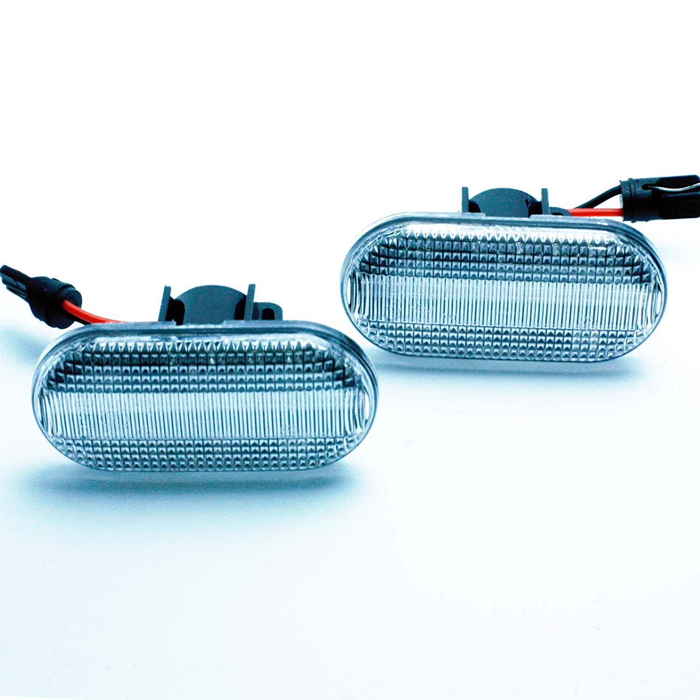MEGANE CLIO II 2 SCENIC TWINGO II KANGOO E4 MOT T/ÜV ITV Lot de 2 interrupteurs /à LED DINAMIQUES CLAROS R