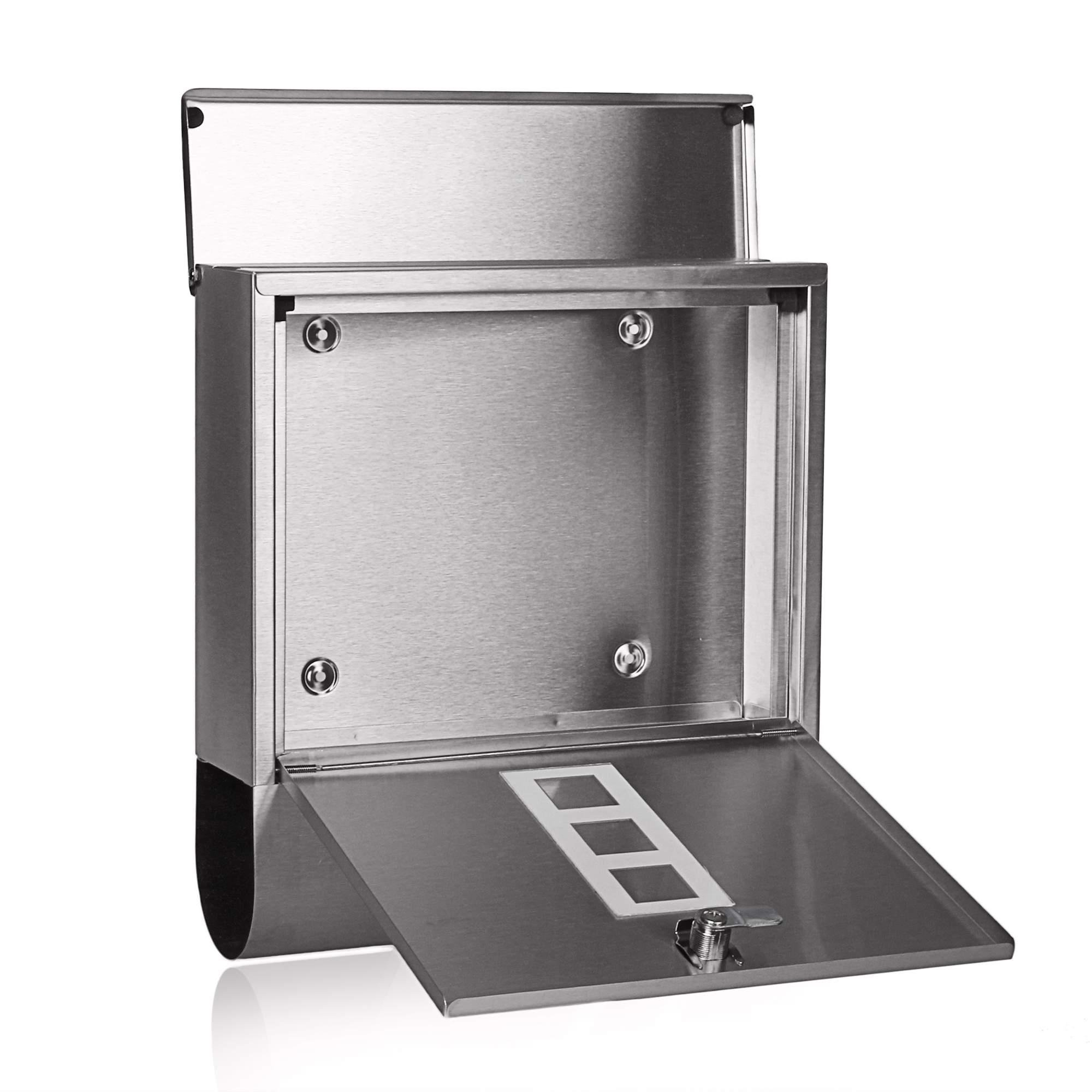 Stainless Steel Locking Mailbox Wall Mounted Letterbox [US Stock] by Rateim (Image #4)