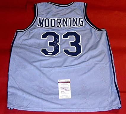 48db7548d ALONZO MOURNING AUTOGRAPHED GEORGETOWN HOYAS JERSEY JSA ZO at ...