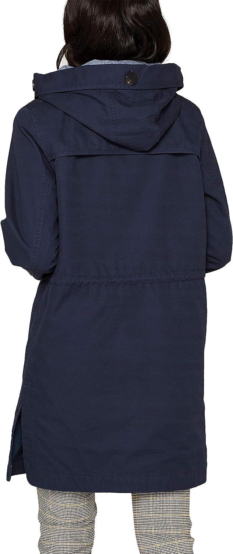 edc by Esprit Women's Coat Blue (Navy 400)