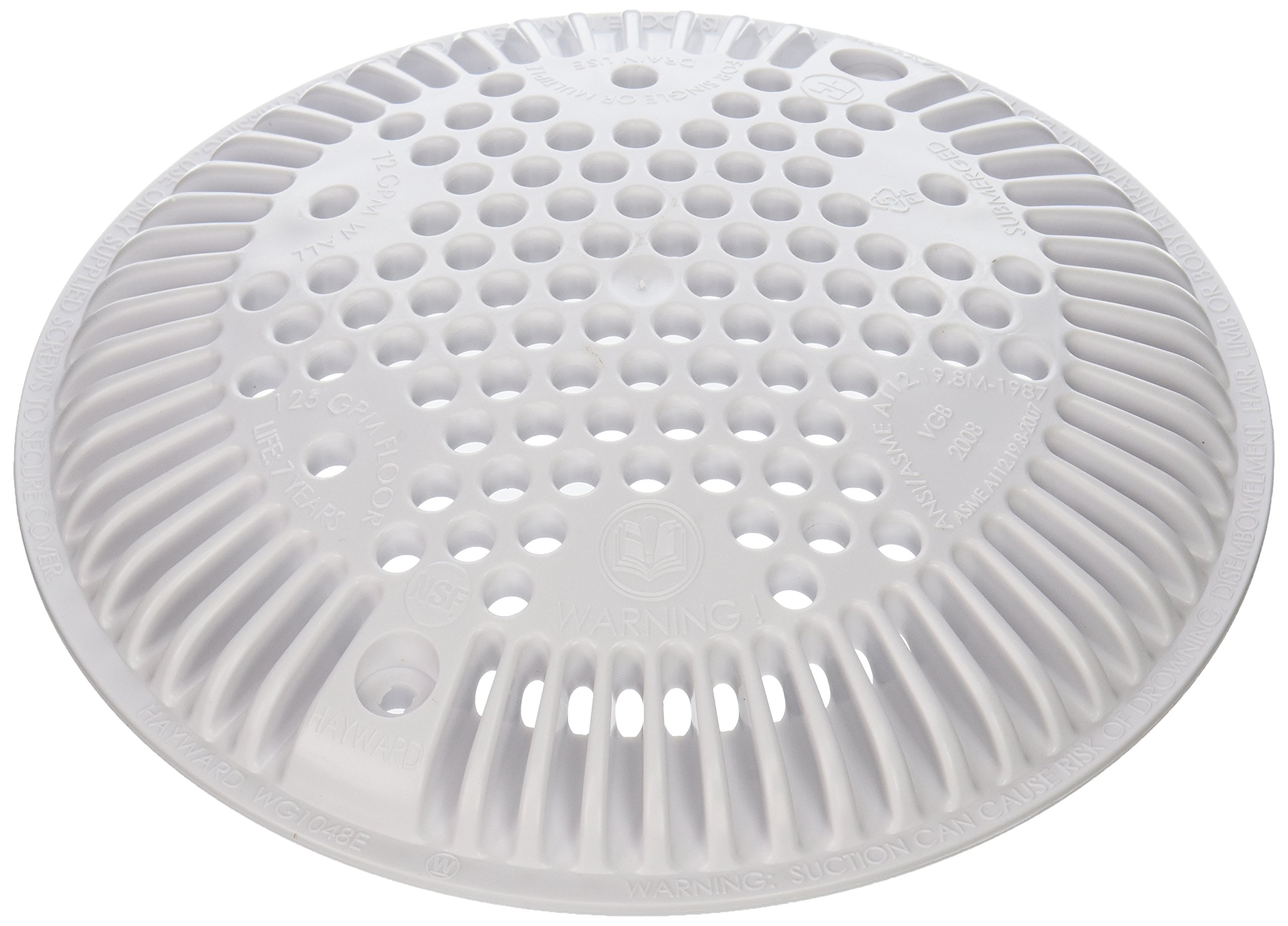 Hayward WGX1048E 8-Inch White Cover Replacement for Hayward Suction and Dual Suction Outlet