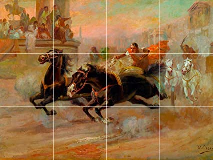 Cool Ancient Rome Chariot Horse Race Racing Painting Ceramic Tile Download Free Architecture Designs Xoliawazosbritishbridgeorg