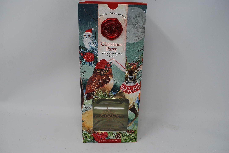 Michel Design Works Christmas Party Home Fragrance Diffuser Glass Bottle Reeds 7.7oz