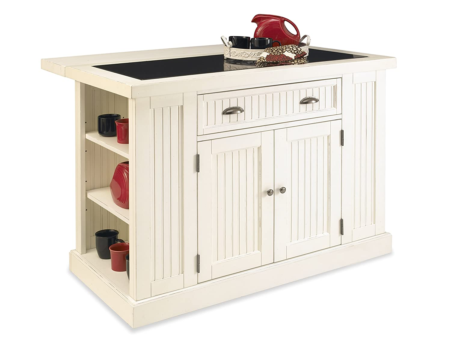 Nantucket White Kitchen Island by Home Styles