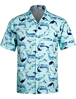 78137b353534 APTRO Herren Hemd Strandhemd Hawaiihemd Kurzarm Urlaub Hemd Freizeit Reise  Hemd Party Hemd