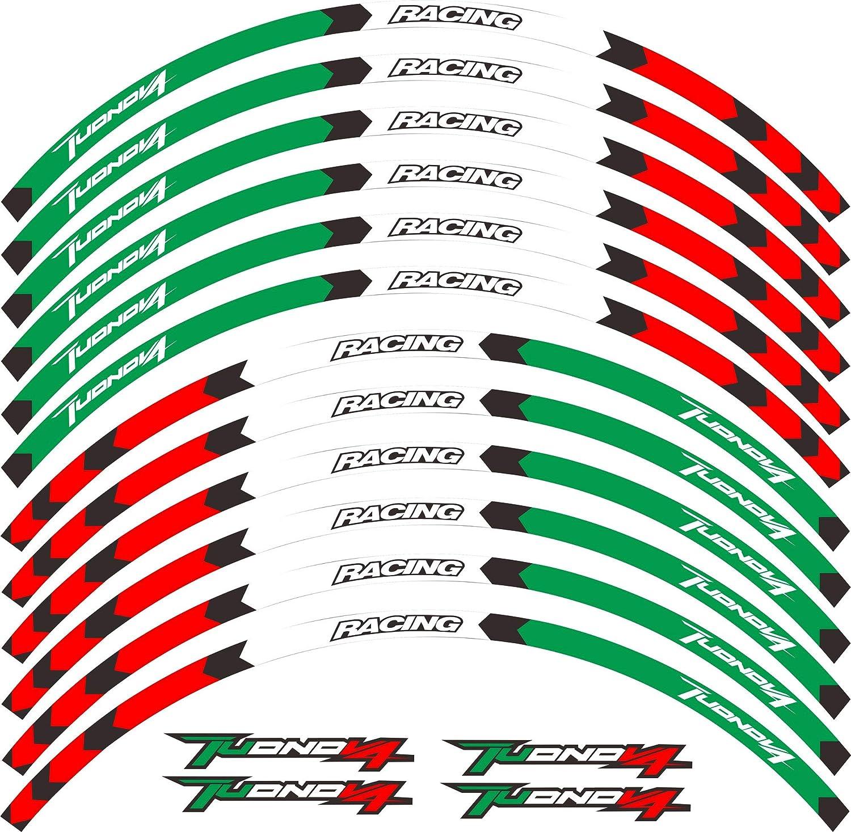 Aprilia Tuono Factory V4 1100 white wheel rim graphics stickers decals