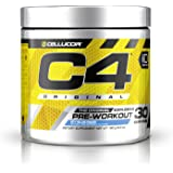Cellucor C4 Pre-Workout Supplement with Creatine Nitrate and Beta Alanine, Icy Blue Razz, 30 Count