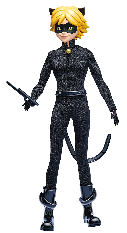 Bandai 39746 Miraculous Puppe Cat Noir, 26 cm