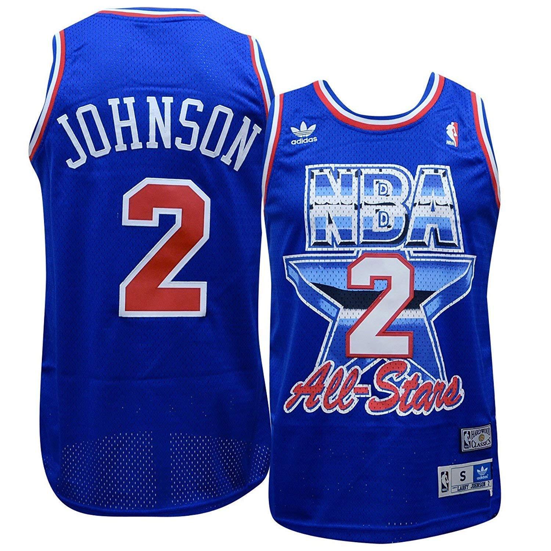 81f9f84f172 Amazon.com: Charlotte Hornets Larry Johnson 1993 All Star Game Soul Adidas  Swingman Jersey (S): Clothing