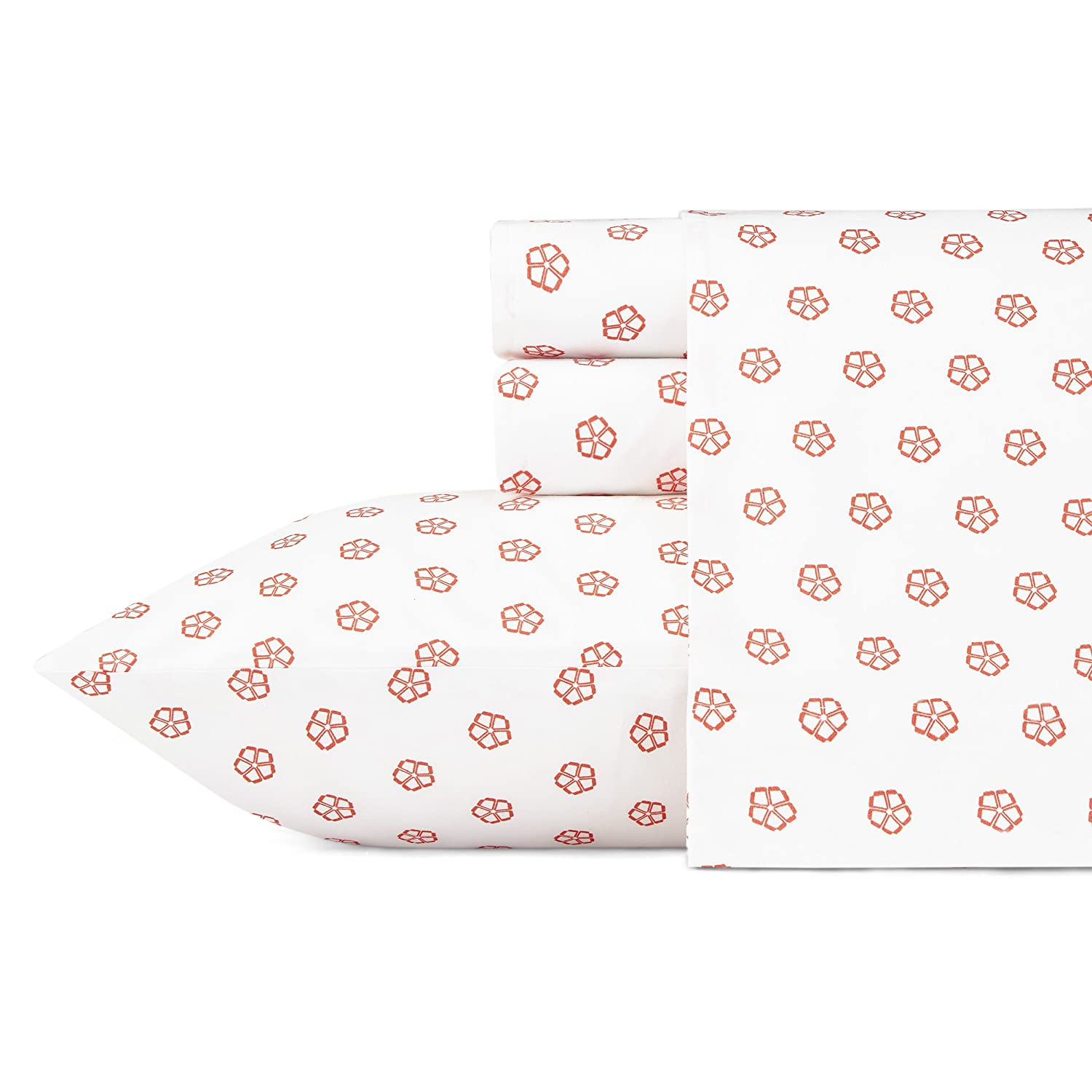 Trina Turk USHSA01050374 Fiorella Sheet Set, Queen, Orange