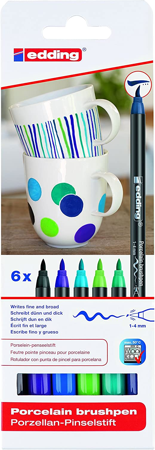 edding 4200 Porcelain Brush Pen Set