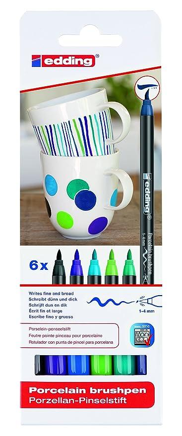 Top edding 4200 Porzellan Pinselstift (auch für Glas und Keramik UL14