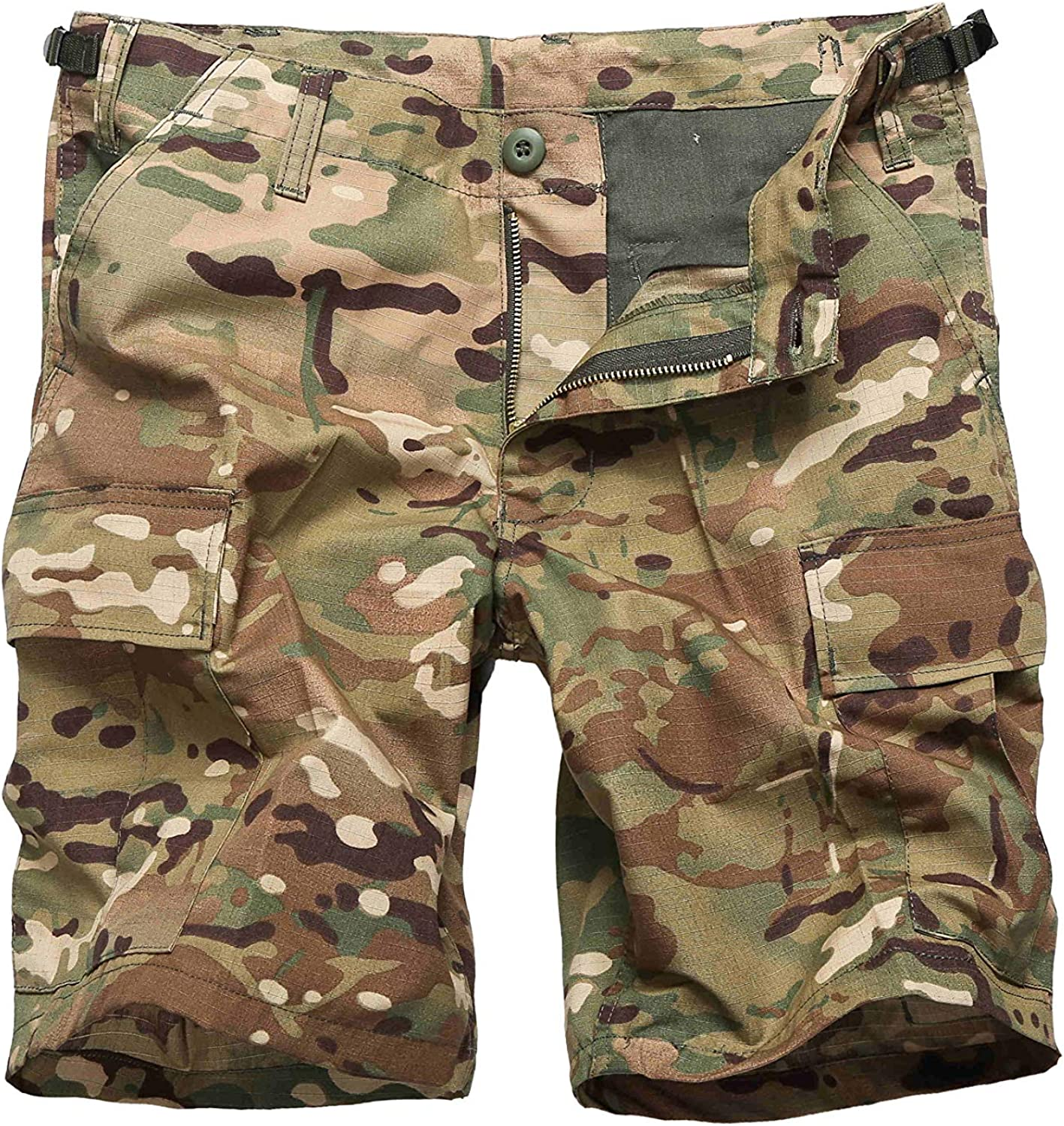 Backbone Mens Army Tactical Military BDU Camouflage Shorts Work Fishing Camping Casual Cargo Shorts