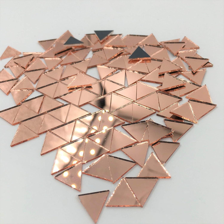 500 Mosaico Plateado Espejo Azulejos de Cristal para Arte y Artesan/ía Triangular 15x15x20 mm