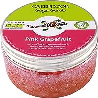 Greendoor Peeling do ciała Sugar Scrub Pink grejpfrut 230 g, peeling cukrowy bez mikroplastiku, naturalny peeling pod…
