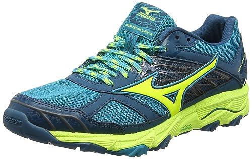 ebf9f006225b Mizuno Women's's Wave Mujin WOS Running Shoes Multicolor  (Tileblue/safetyyellow/bluecoral) 4