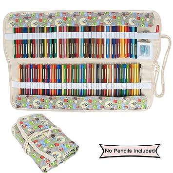 Damero - Estuche de tela enrollable para 100 lápices de ...