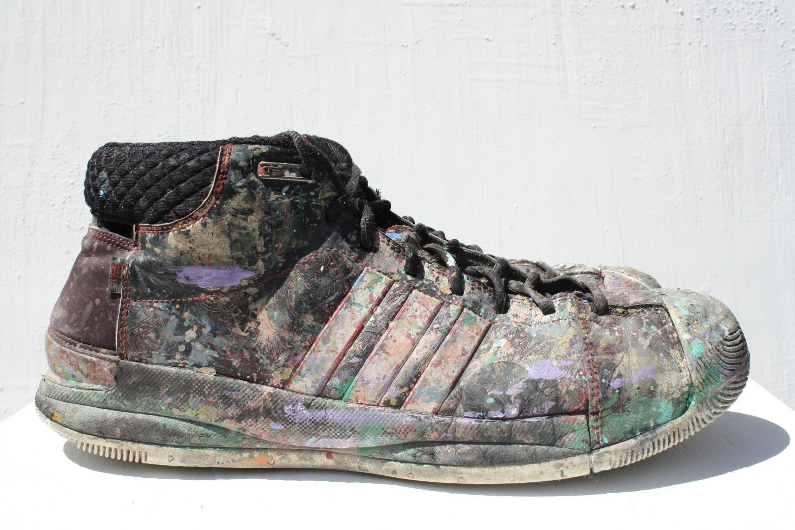 CHRIS RIGGS CONCEPTUAL ART DADA MODERN SCULPTURE SNEAKERS ASSEMBLAGE ADIDAS POP SIZE 13